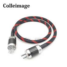 Colleimage Hifi SA-OF8N Audio CD AC Power Cord US Power Cable Carbon Fiber Audio amplifier filter Power Cord(China)