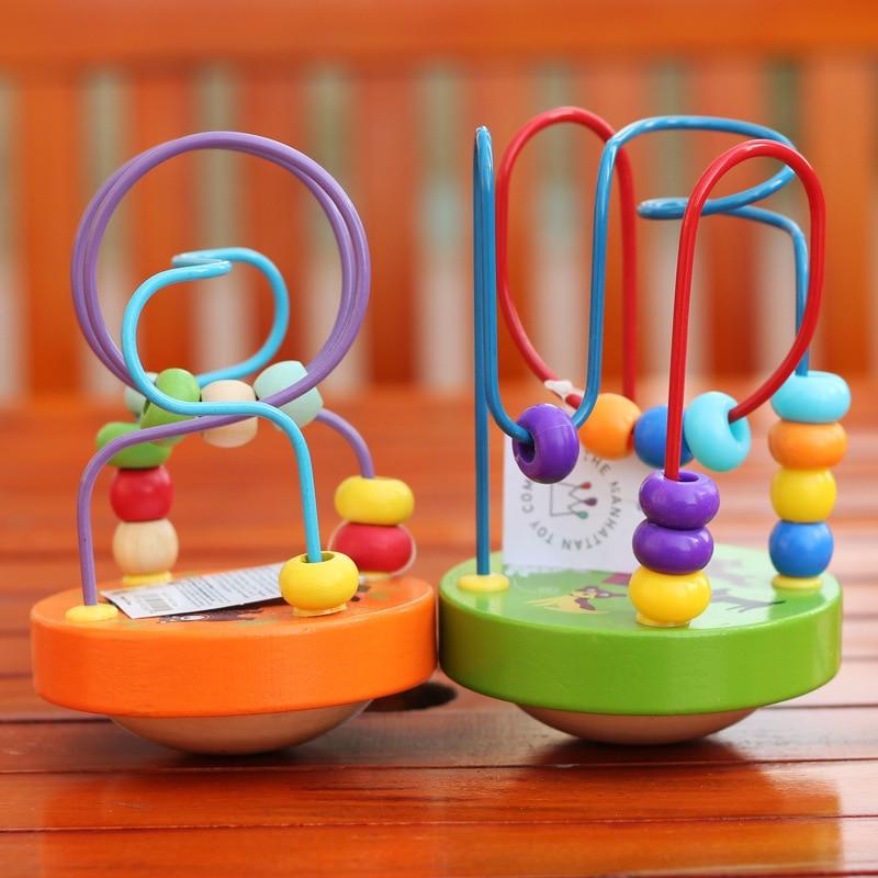 Children Small Mini Wooden Beaded Bracelet Educational Bead-stringing Toy Tumbler Bead-stringing Toy Beaded Bracelet Intelligenc