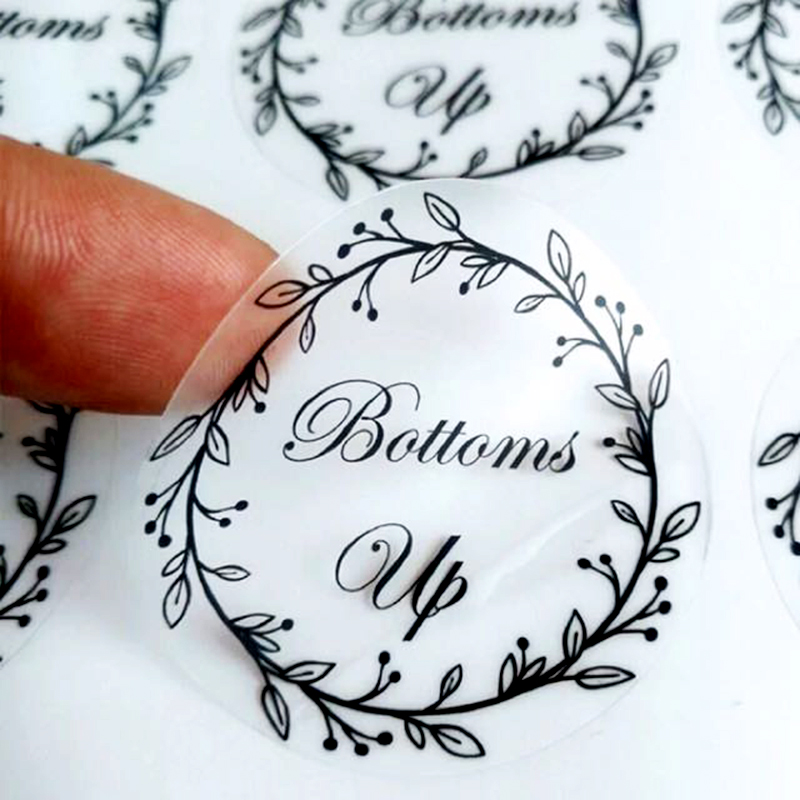 100PCS Custom Transparent Label Stickers, Personalized Name Transparent Stickers, Wedding Stickers, Logos, Eyelash Stickers Logo