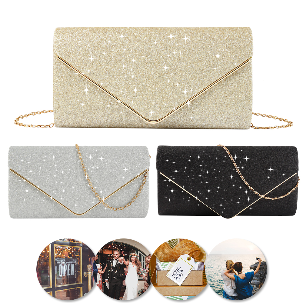 2020 Luxury Shiny Women Bag Envelope Clutch Fashion Glitter Ladies Wedding Bags Handbags Bolsas Vintage Evening Bags For Women