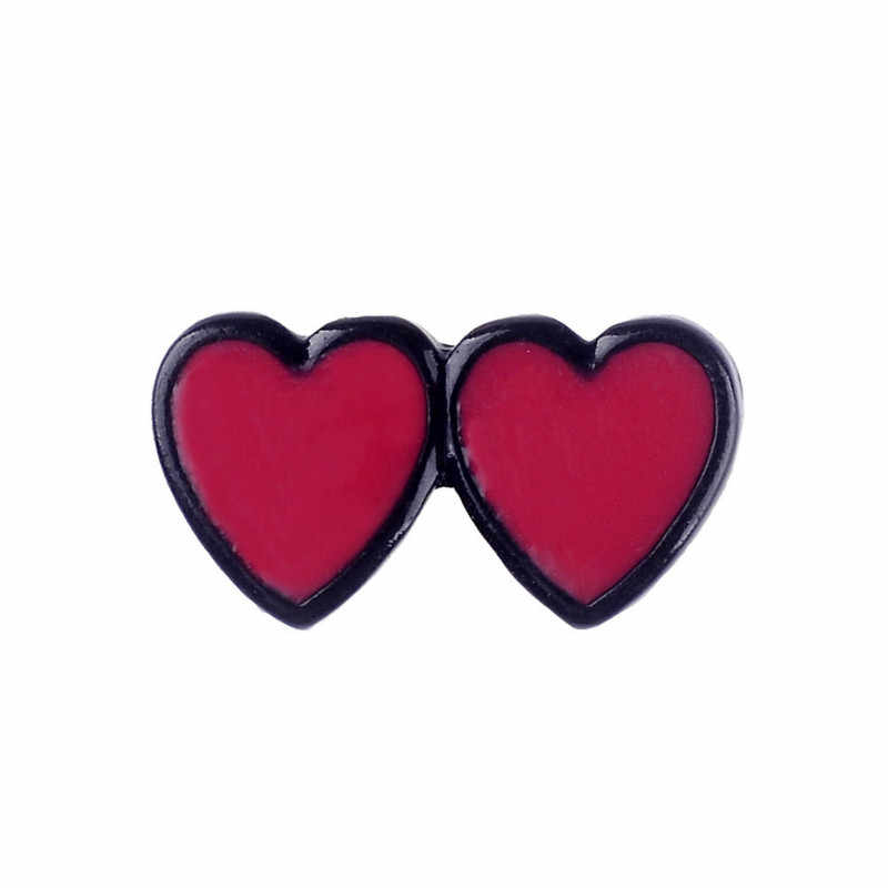 Creative Red Heart Cat Brooch for Women Men Fashion Denim Wear Jackets Bag Badge Alloy Enamel Pins Brooches Jewelry Kids Gifts