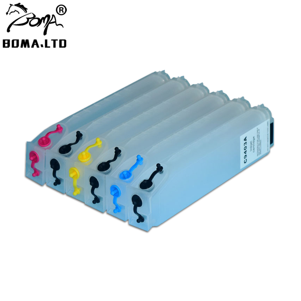 refillable ink cartridge HP 72 T610 T770 T790 T1100 T1120 C9384A Auto reset chip