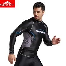 SBART new long sleeves swimwear rashguard surf clothing diving suits shirt swim suit spearfishing kitesurf men rash guard