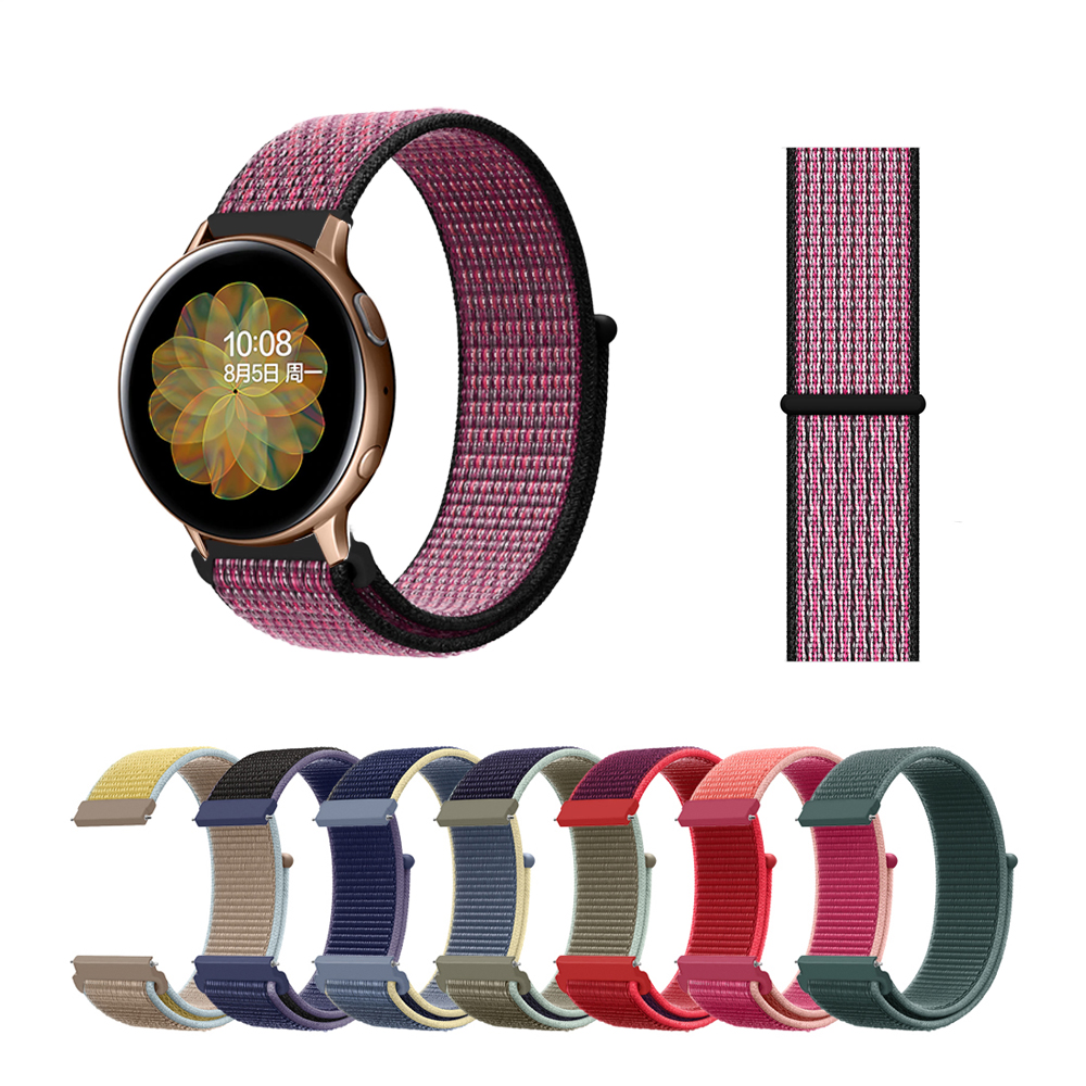 Multicolor Velcro Band For Samsung Galaxy Watch Active 2 1 Double Layer Nylon Weave Band For Samsung Watch Active 2 Breathable