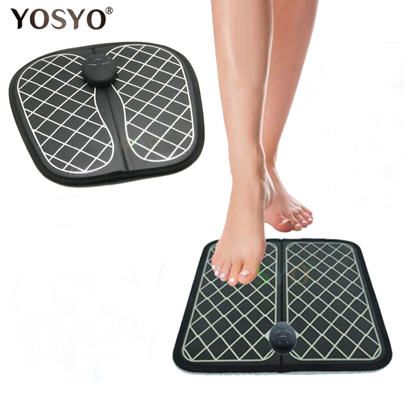 Electric EMS Foot Massager ABS Physiotherapy Revitalizing Pedicure Tens Foot Vibrator Wireless Feet Muscle Stimulator Unisex