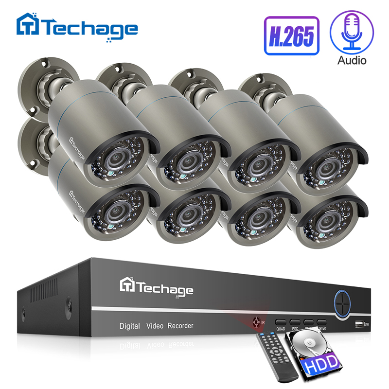 H.265 POE système de vidéosurveillance 8CH 1080P NVR Kit jusqu'à 16CH NVR 2MP enregistrement Audio caméra IP IR extérieur P2P ensemble de Surveillance vidéo de sécurité