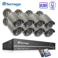 H.265 Sistema de CCTV de POE 8CH 1080P NVR Kit hasta 16CH NVR 2MP grabación de Audio IP Cámara IR al aire libre P2P Video Vigilancia Conjunto