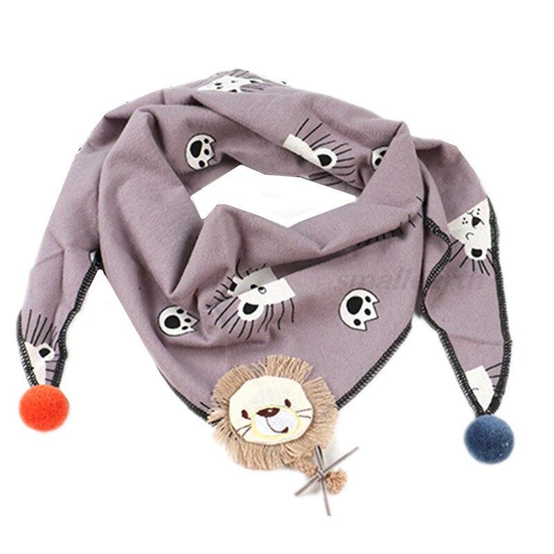 Весенние клетчатые треугольные шарфы в горошек для маленьких девочек; осенне-зимняя шаль для мальчиков и девочек; Детские хлопковые воротники; теплый детский шейный платок - Цвет: B4