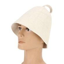 White Wool Felt Sauna Hat Sauna Shower Cap For Bath House Head Protection Women