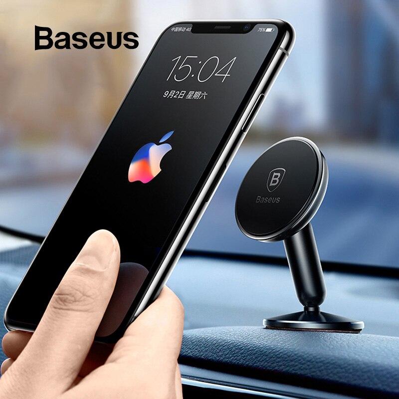 Baseus Universal Car Holder For Mobile Phone Holder Stand In Car Mount Phone Holder For Car 360 Degree Magnetic Car Phone Holder