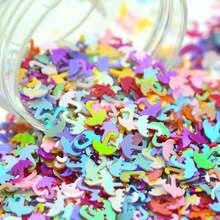 20g 4mm mixed Color Plastic Flat Umbrella Scrap-booking Sequins Loose For Nail Art Wedding Party Decoration