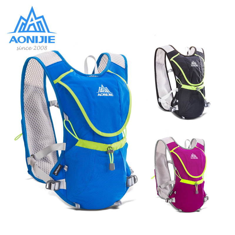 AONIJIE Hydration Pack Backpack Rucksack Bag Vest Harness Water Bladder Hiking Camping Running Marathon Race Sports 8L E883