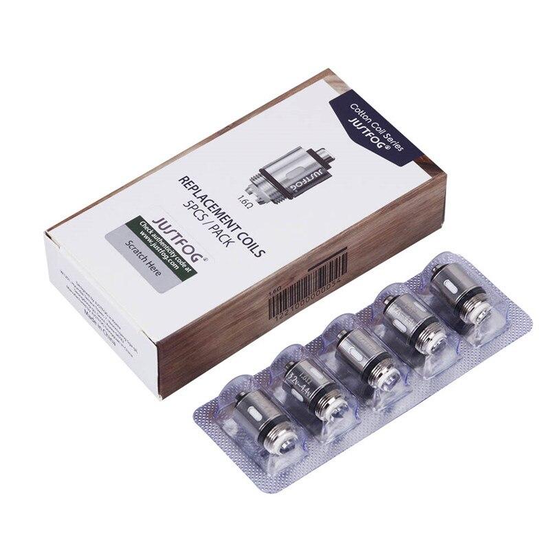 50pcs lot JUSTFOG Vape Kit Core 1 6ohm 1 2ohm Coils for Justfog Q16 Q14 P16A