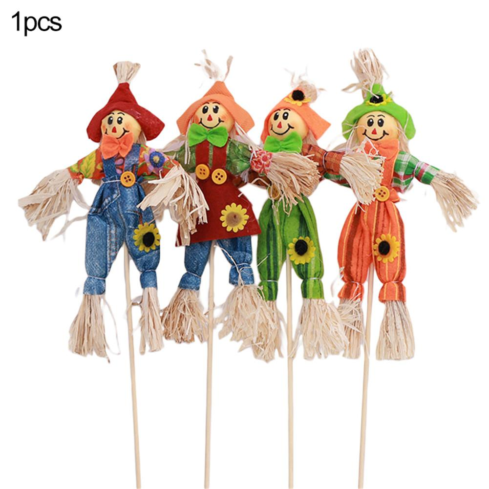Standing Scarecrow Cute Autumn Garden Scarecrow Ornament For Halloween Decoration Mall Bar KTV Decoration Random Color