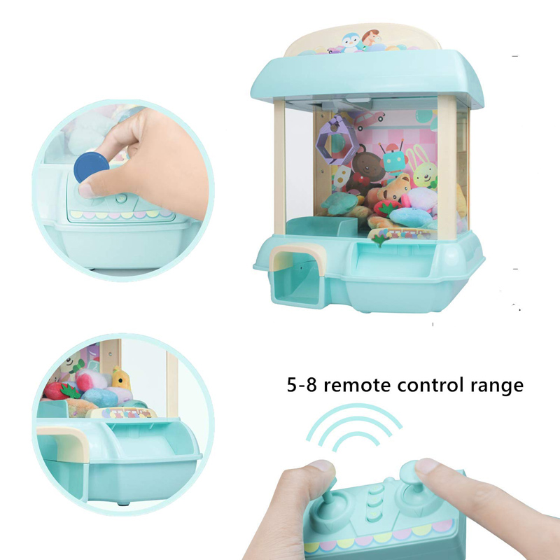 USB Charging Acrade Kids Catcher Remote Game Toy Candy Grabber Clip Doll Large Claw Crane Machine Children 39 s Fun Christmas Gifts in Coin Operated Games from Sports amp Entertainment