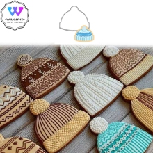 2pcs Hat Sweater Mold Cookie Cutter Fondant Christmas Cake Decor Cupcake Pastry Biscuit Mould DIY Birthday Bakeware Cake Tool
