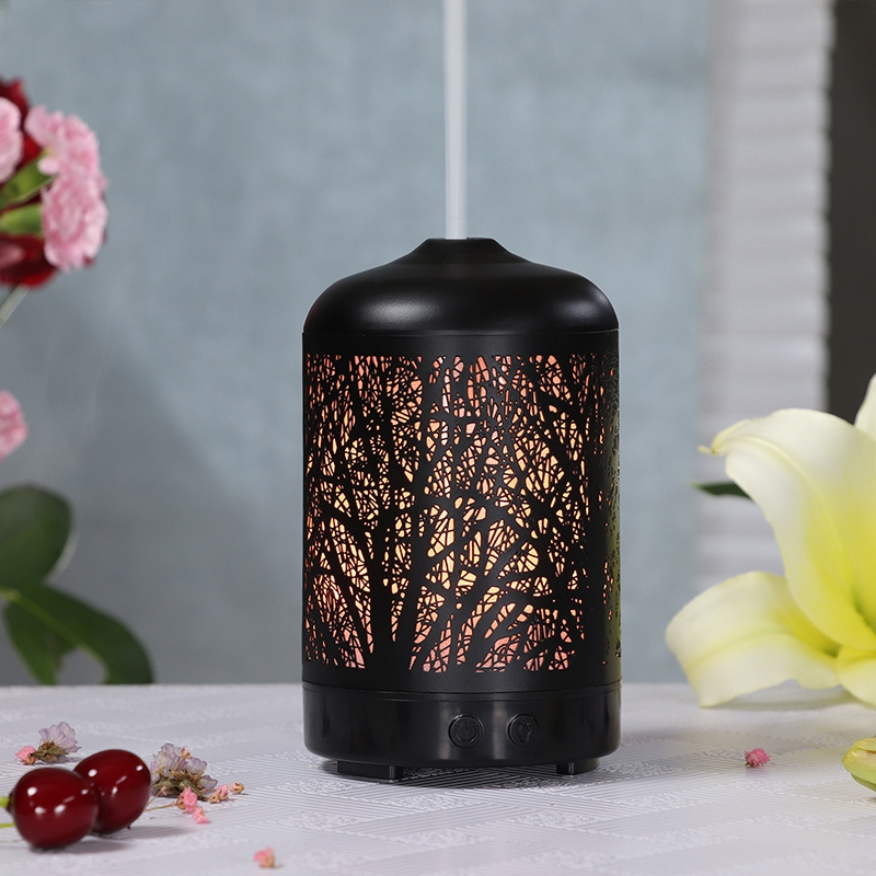 Metal Tree Essential Oil Diffuser 100Ml Aroma Diffuser Ultrasonic Aromatherapy Humidifier Cool Mist Maker For Home Office Eu Plu