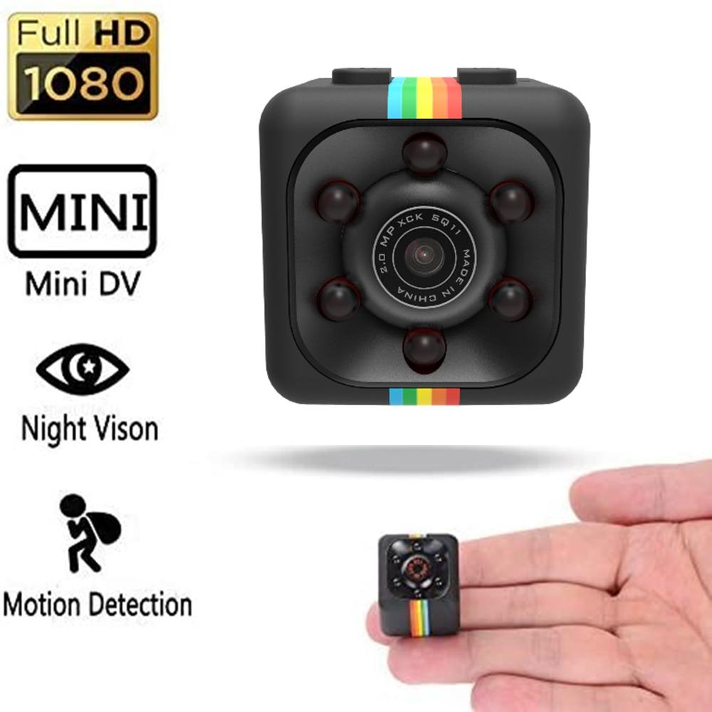 Мини-камера 1080P 720P SQ11 с датчиком S1000, видеокамера ночного видения, видеорегистратор движения, Спортивная микро-камера DV, маленькая видеокаме...