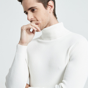 Image 4 - COODRONY Рождественский свитер Мужская одежда 2020 Зимний толстый теплый повседневный трикотажный пуловер с высоким воротом классический чистый цвет джемпер 8253
