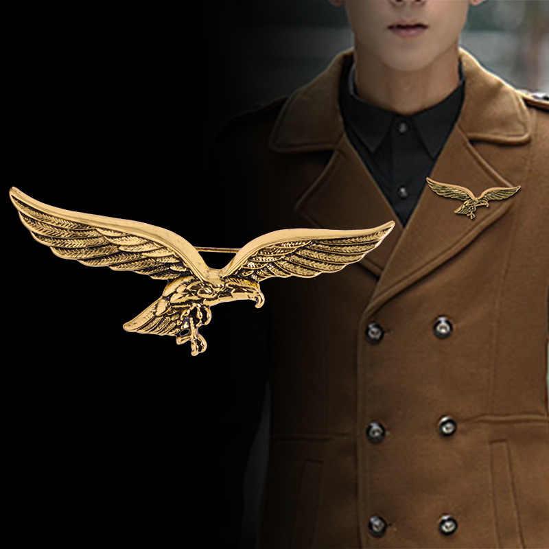 แฟชั่นสไตล์เกาหลีใหม่เข็มกลัด Gold Eagle WINGS รูปร่างเข็มกลัดผ้าพันคอ Lapel โลหะ PIN Badge สำหรับชายเสื้อคอปกอุปกรณ์เสริม