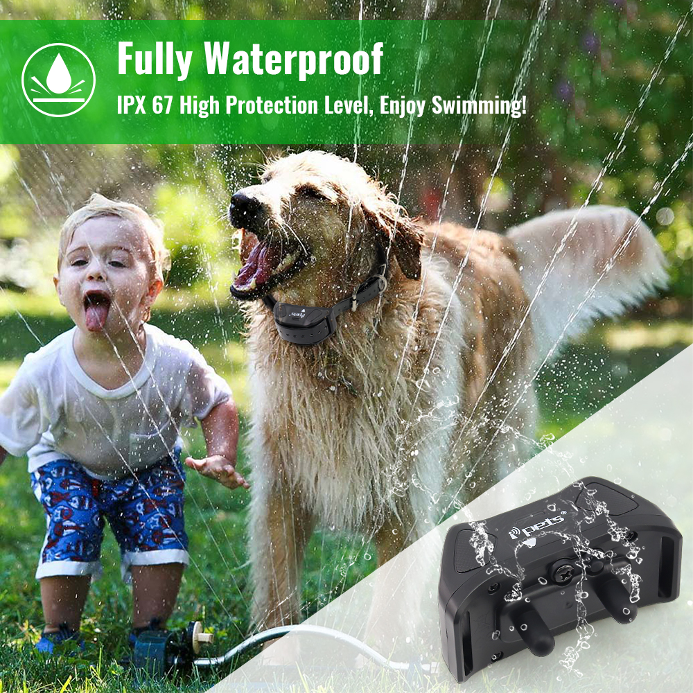 IPETS 618 1 800M Waterproof and Rechargeable electric Dog shock Collar with Remote Control 3