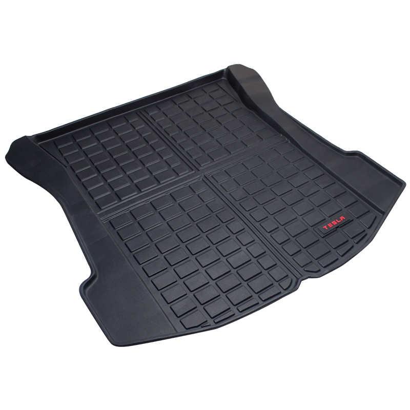 Tpo Kofferbak Vloermatten Voor Tesla Model S Cargo Liner Achter Cargo Tray Black Protector Materiaal Alle Weersomstandigheden 2013-2020 Tapijt