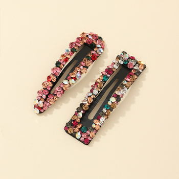 Fashion Hair Jewelry Hairgrip Women Sweet Colorful Rhinestone Hair Pins Barrettes Pearl Hair Clips Hair Accessories For Girls stylish rhinestone faux pearl starfish hairgrip for women
