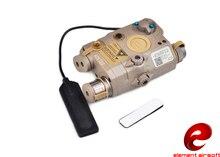 องค์ประกอบล่าสุด Airsoft lampe ไฟฉาย LA 5C PEQ UHP ลักษณะ Ver สีเขียวเลเซอร์และ IR light EX 419 DE