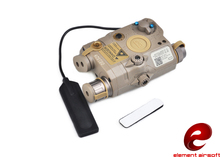 Buy Element Latest Airsoft lampe Flashlight LA-5C PEQ UHP Appearance Ver Green Laser and IR hunting light EX 419 DE directly from merchant!