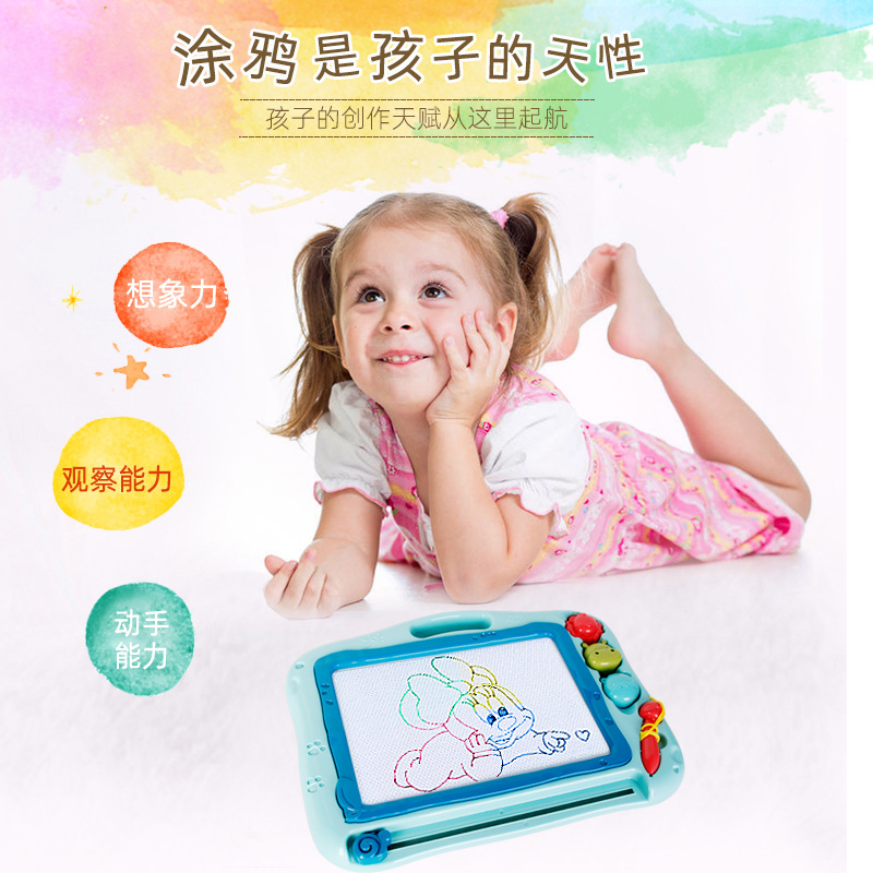 Children'S Educational Magnetic Drawing Board Graffiti Color Drawing Board Plastic Drawing Board Cartoon Graffiti Drawing Board