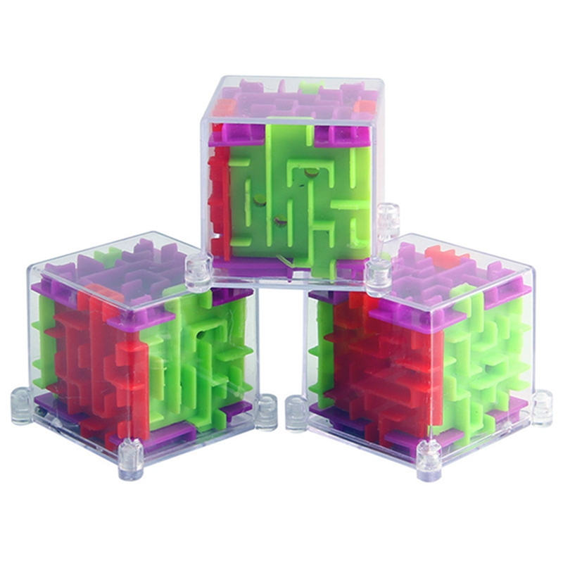 2019 Funny 3D Maze Magic Cube Puzzle Speed 1PC  Cube Puzzle Game Labyrinth Ball Toys Magical Maze Ball Games Educational Toys
