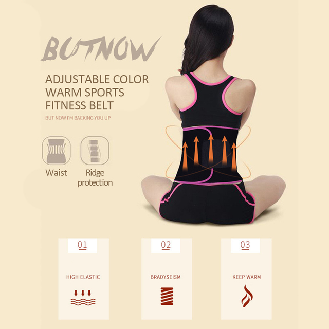 Sweat Belt Durable Professional Waist Protection Gym Fitness Centre Yoga Sport Goods Climbing Outdoor Marvellous Waist Trimmer 2
