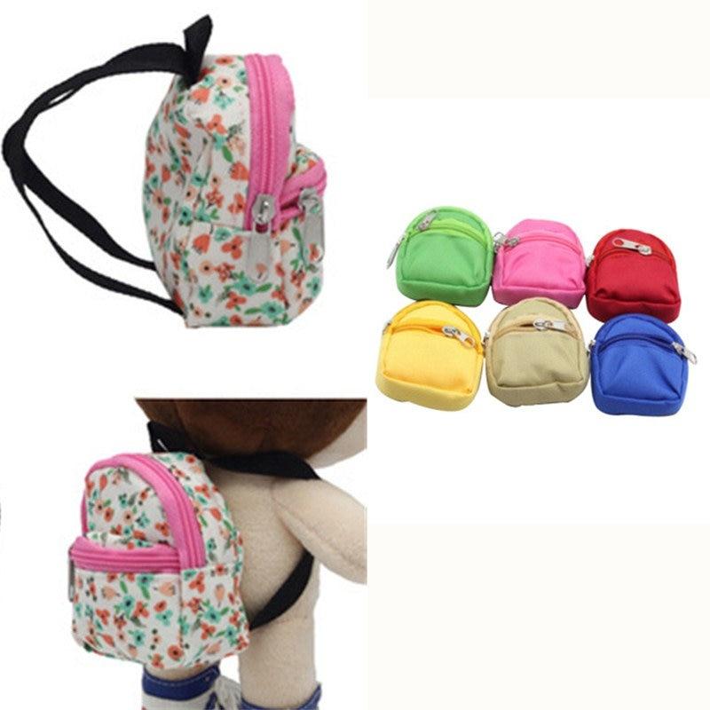 9 Colors Mini Blyth Doll Backpack Bag For Barbie Dolls BJD Blyth Doll BJD Accessories  Cute Children Gifts