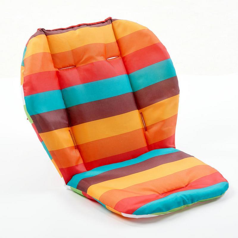 Радужное водонепроницаемое сиденье для детской коляски, коляски, коврик для сиденья, мягкие матрасы, разноцветные подушки, аксессуары для