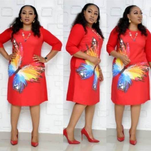 2019 New Fashion Traditional African Print Design Bazin Half Sleeve Dashiki Dress for Lady Plus Women Clothing Elegant