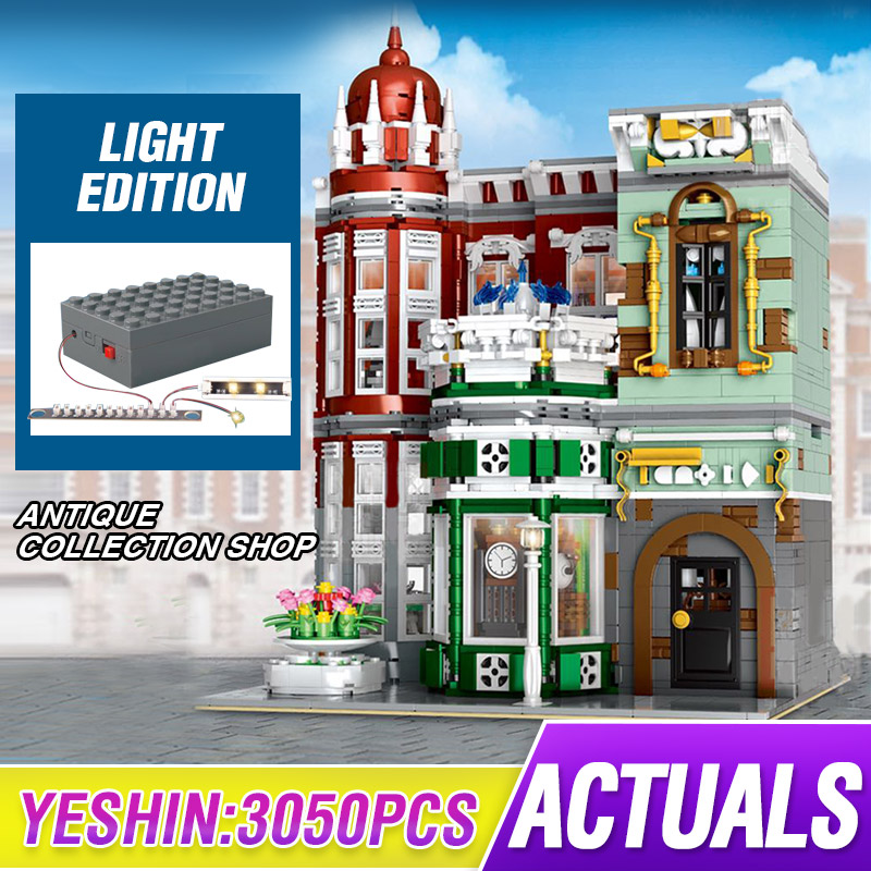 MOC Street View Creator Series Antique Collection Shop Green Grocer Model Building Blocks Bricks Compatible Lepining 10185 Toys