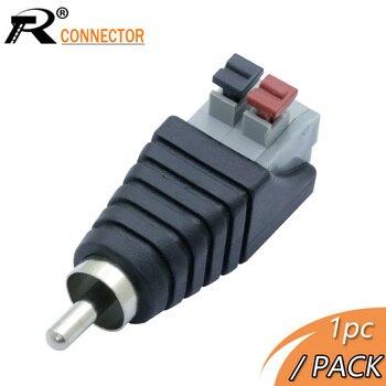 R 1 Conector vídeo de pc AV Balun RCA macho a tornillo AV Terminal estéreo Jack CCTV Cámara bloque Terminal conector de clavija
