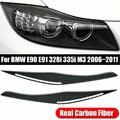 Для BMW E90/E91 328i 335i 2006-2011 углеродное волокно фары век бровей крышка
