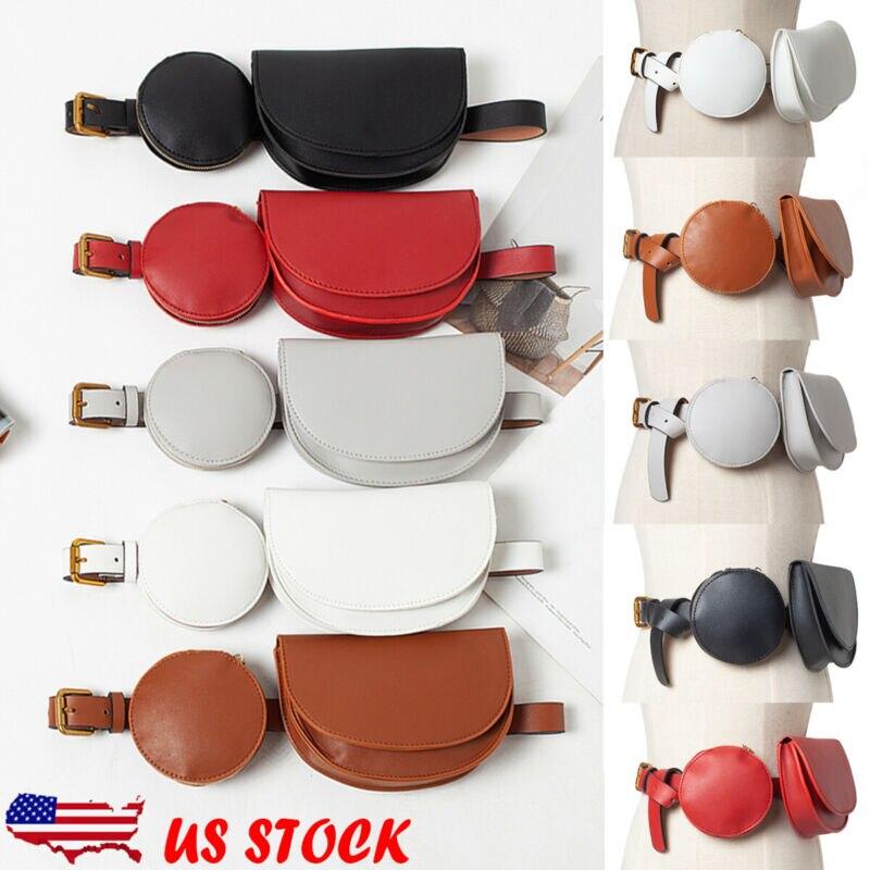 Fashion Womens PU Leather Mini Belt Bag Waist Fanny Pack Key Purse Fashion Female Casual Solid Color