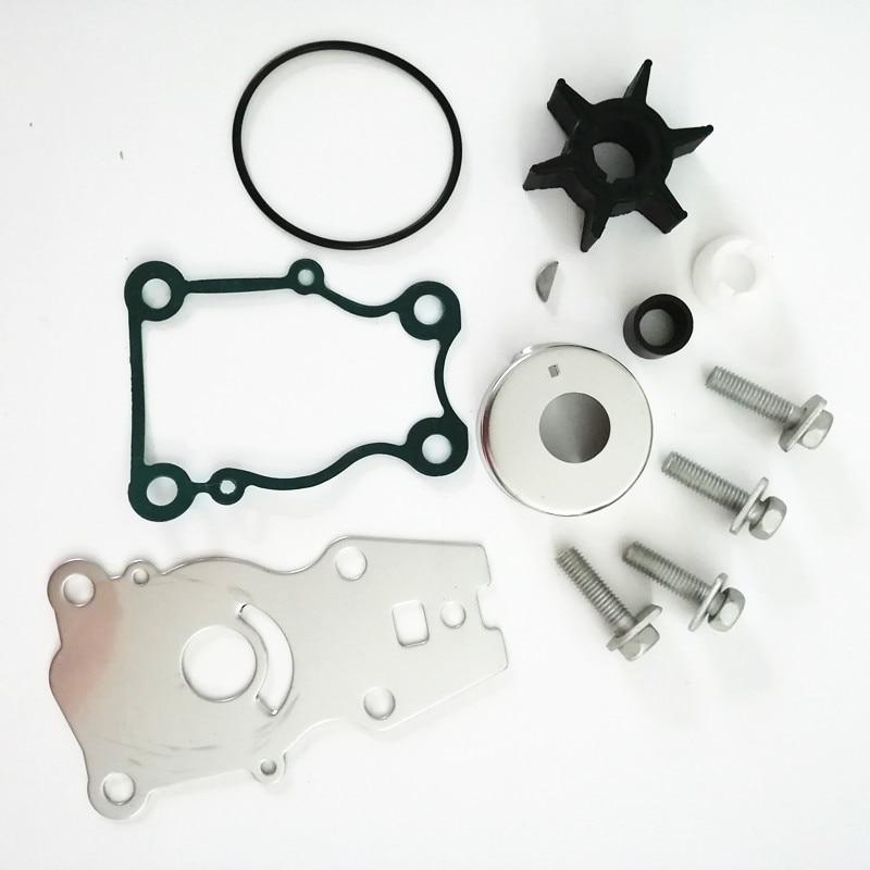 66T-W0078-00 Water Pump Impeller Repair Kit For Yamaha 25 30 40 HP Sierra 18-3440 9-48610 Outboard Engine
