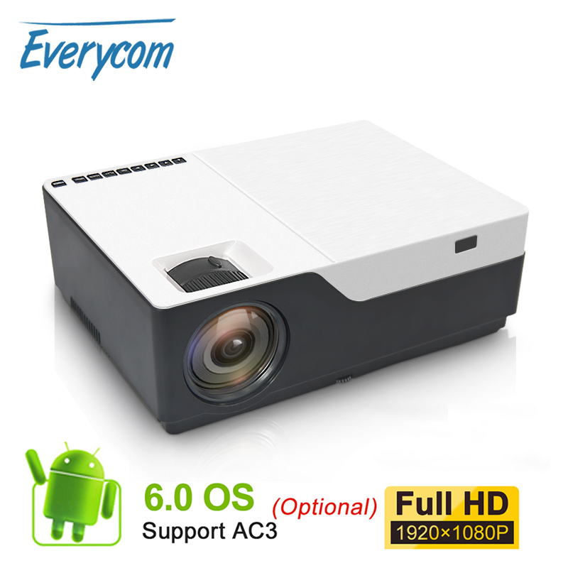 Everycom M18 Native 1920X1080 Real Full HD Projector Home Multimedia Video Game Projector Beamer (Optional Android WiFi AC3)-in LCD Projectors from Consumer Electronics