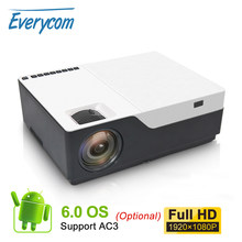Everycom M18 Asli 1920X1080 Real Full HD Proyektor Home Multimedia Video Game Proyektor Proyektor (Opsional Android WIFI AC3)(China)