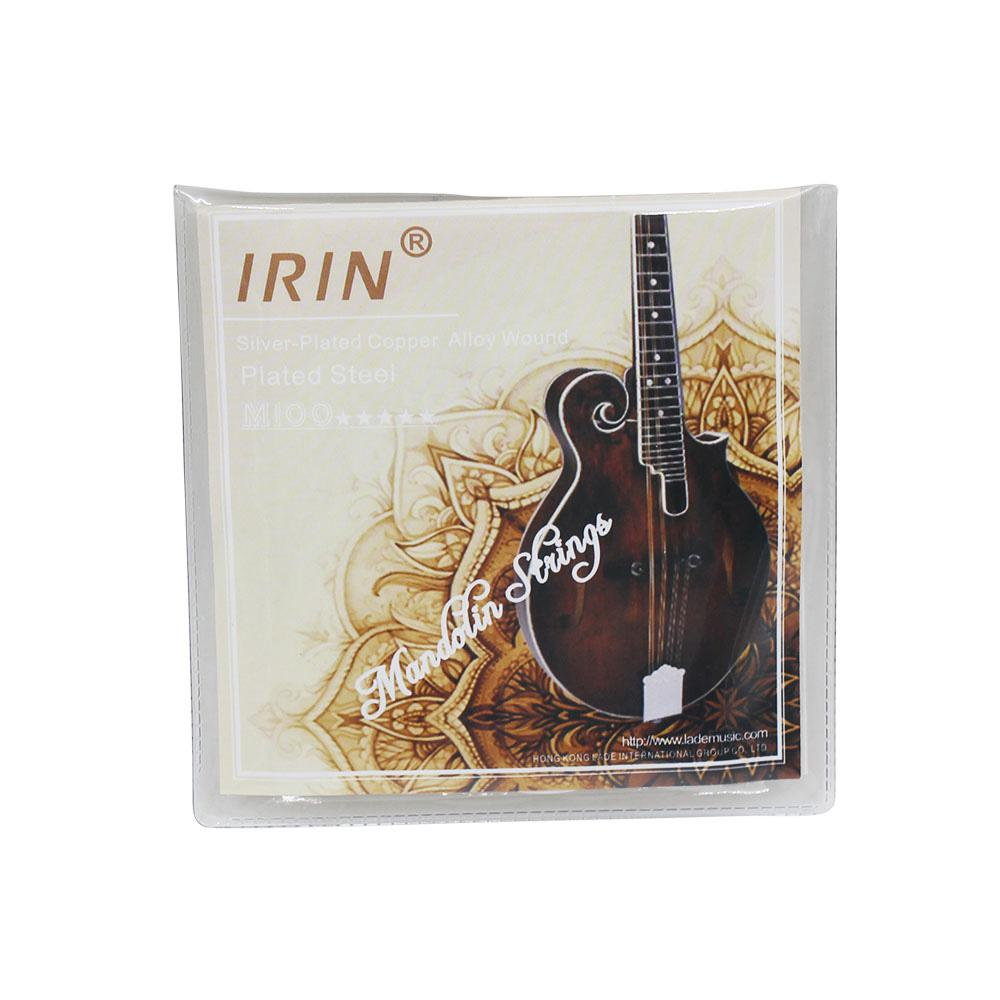 IRIN 8 Pcs M100 Mandolin String Set Silver-plated G D A E Mandolin Accessories