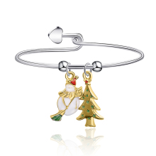 Meirenpeizi Cute Pendant Christmas Gift Bracelet for Female Children Christmas Gift Alloy Trend Personality Jewelry Bracelet new alloy gorgeous fashion christmas theme snowman cane santa claus color pendant bracelet bracelet christmas best gift jewelry