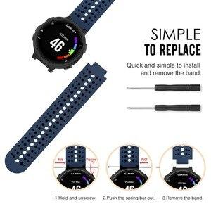 Image 5 - Garmin 포어 러너 235/220/230/620/735XT GPS 액세서리에 대 한 Garmin 포어 러너 630 시계 밴드 실리콘 스트랩 팔찌에 대 한 13 색상