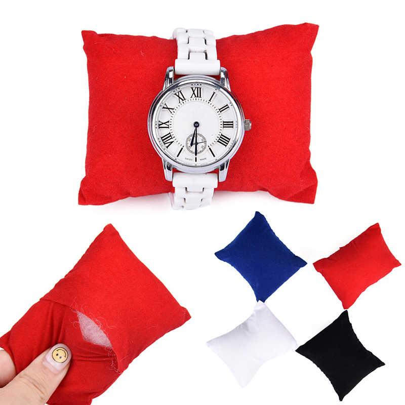 1PC กำมะหยี่หนังสร้อยข้อมือนาฬิกาหมอนเครื่องประดับผู้ถือกล่อง Organizer