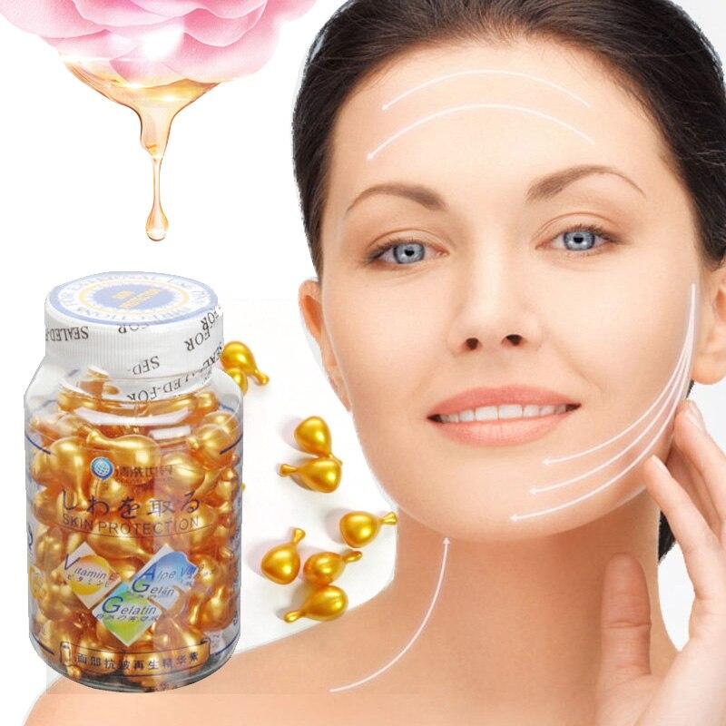 10/90pcs Snail Vitamin E Face Serum Anti-Wrinkle Whitening Anti Aging Moisturizing Skin Care Vitamin E Capsules Lifting Firming