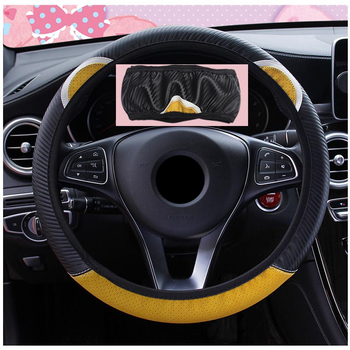 5 Colors Car Steering-Wheel Handle Covers Car Accessories Steering Wheel Cover Universal Cute Cartoon Cat Ear donyummyjo creative cute cartoon car steering wheel cover winter plush back cat women girls wheel covers car styling decorations