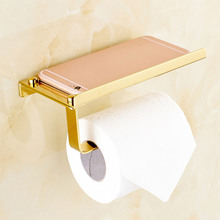 Bathroom Toilet Roll Paper Holder Wall Mount Stainless Steel Bathroom WC Paper Telephone Holder Tissue Boxes Storage Shelf Rack 304 stainless steel toilet roll paper holder hanger wc wall mount tissue holder chrome free shipping