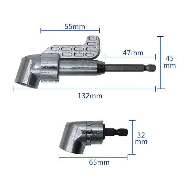 105 kąt zestaw wkrętaków uchwyt na wtyczkę Adapter regulowane bity wiertło kąt śrubokręt narzędzie 1/4 gniazdo na Bit sześciokątny krok wiertła